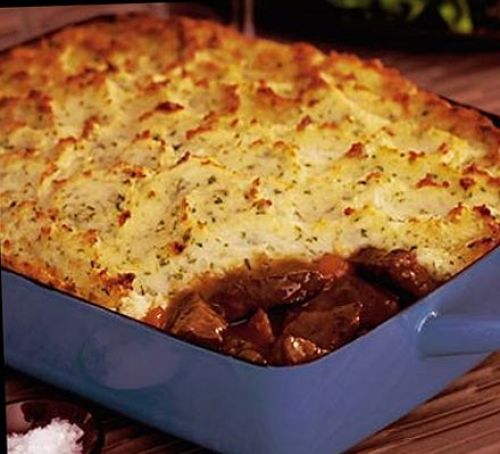 Braised Beef and Roasted Garlic Pie