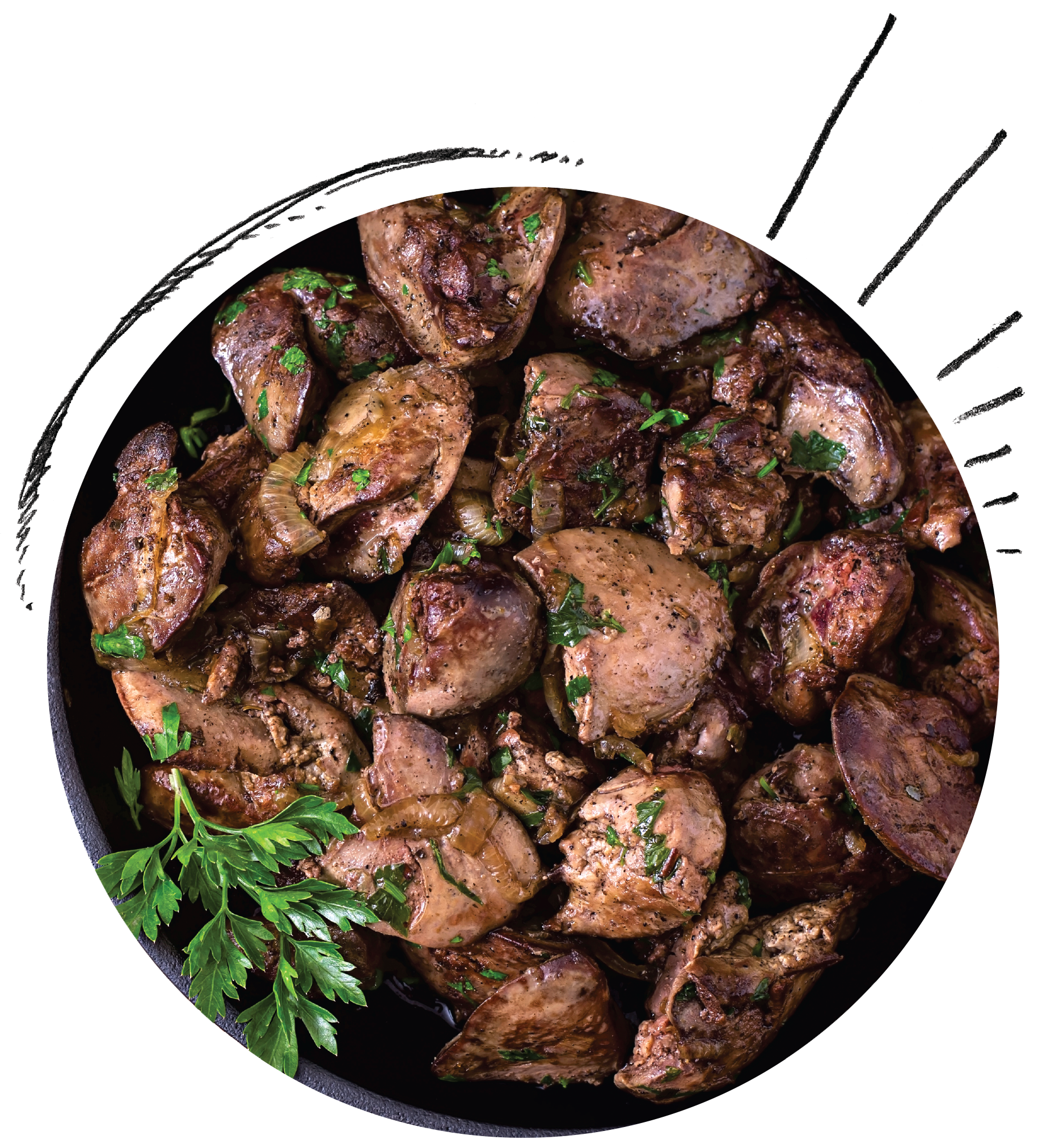 Chicken Livers Peri-Peri