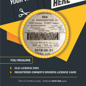 Renew your Vehicle Licence Disc at MyPhoto