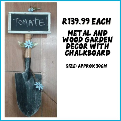 Metal and Wood Garden Decor R139.99